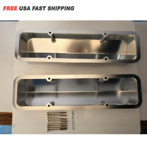 Fabricated Aluminum Valve Cover For Small Block Chevy Sbc 283 350 400 Long Bolt