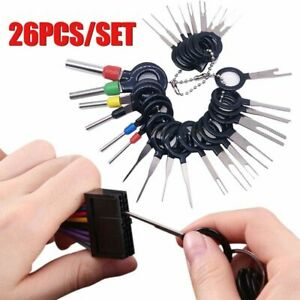 26x Car Wire Terminal Removal Tool Kit Wiring Connector Pin Extractor Puller Kit