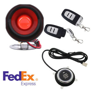 One Button Remote Start Car Alarm System Key Less Entry Automation Door Locking