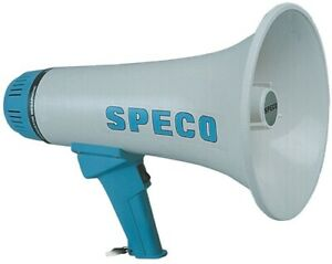 Speco Er 360 10 Watt Lightweight Portable Mini megaphone Police Model Aa Battery