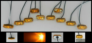 10 Amber Marker Clearance Lights 1 Led 1 1 2 X 3 4 Mcl299ab Adhesive Back