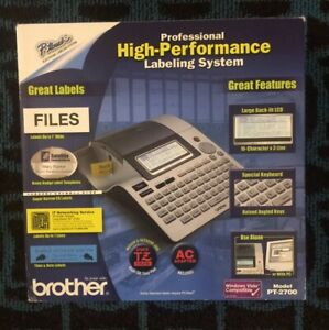 Brother P touch Pt 2700 Thermal Professional Label Maker High Performance