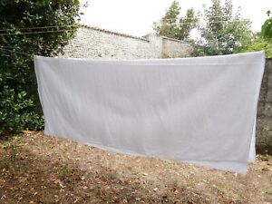 Vintage French 1920 Bedding Pure Linen Off White Sheet Pin Tuck