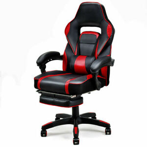 Ergonomic High Back Racing Gaming Chair Swivel Computer Office Desk W Footrest
