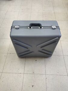 Grey Hard Case Shipping storage Container With Handle And Wheels 22 X 20 X 10
