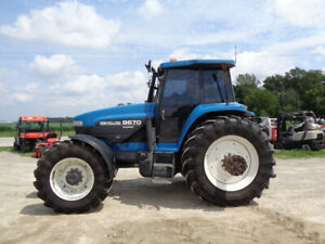 1997 New Holland 8670 Genesis Cab heat air 4wd Super Steer 5 473 Hours