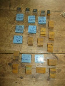Antique Lot Of 25 Rubber Stamps Animals Wood Backed