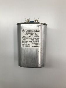 Capacitor 24uf 480v 50 60hz Oil Filled By Aerovox New