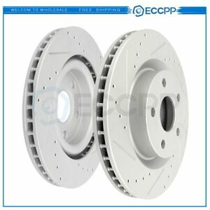 Front Brake Discs Rotors For Pontiac G8 2008 2009 Gt Drilled And Slotted