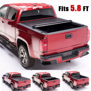 For 14 18 Chevy Silverado 1500 Lt 5 8 Ft Short Bed Pickup Roll up Tonneau Cover