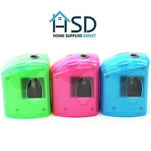 Hsd Automatic Single Hole Electric Desk Pencil Sharpener Battery mains Operated