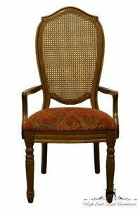 Thomasville Furniture Villager Collection Cane Back Dining Arm Chair 20421 862