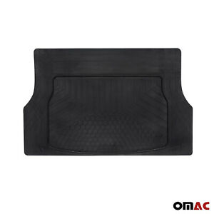 Omac Cargo Trunk Floor Mat Liner For Car All Weather Trimable Fit Black