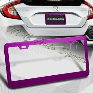1 X Purple Aluminum Alloy Car License Plate Frame Cover Front Or Rear Us Size