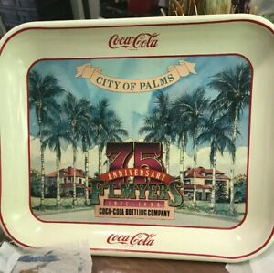 Coca-Cola City of Palms 75th anniversary Fort Myers 1986 serving tray Vintage