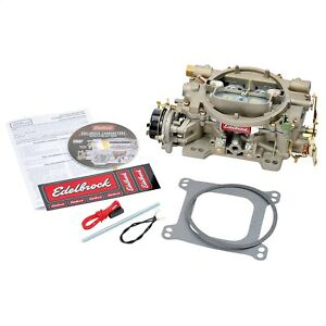 Edelbrock 1409 Marine Series Carburetor 4 Bbl 600cfm Electric Choke