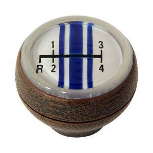 1968 1969 Mustang 4 Speed Deluxe Woodgrain Shift Knob 68 13024 C8oz 7213 A