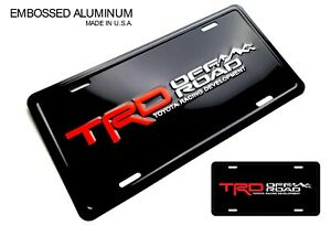 Trd Off Road Embossed Aluminum License Plate Toyota Racing Development Tundra 4r