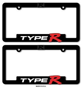 Type R License Plate Frames Honda Civic Acura Integra 3d Letter Type R Typer