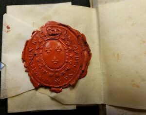 Louis Xv Set Of Signed Documents On Parchment Connected With A Superb Seal 1773