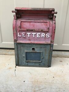 Vintage U S Post Office Mail Box Cast Iron Carlisle Foundry Dated 1929