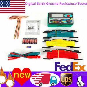 Dy4100 Digital Earth Ground Resistance Tester Meter 0 20 200 2000 2 3 Us