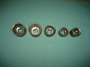 Vintage Snap On Sockets Dh Series Lot 1930