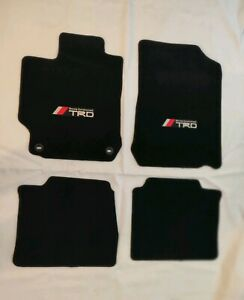 For 2012 2017 Toyota Camry Floor Mats Black Carpets W Trd Emblem