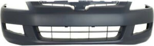 Primed Front Bumper Cover Replacement For 2003 2005 Honda Accord Coupe