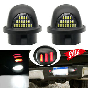 1 Pair Red Neon Glow Led License Plate Tag Light Lamp For 90 14 Ford F150 Pickup