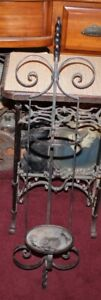 Large Vintage Wrought Iron Wall Sconce Candle Holder Gothic Medieval Victorian