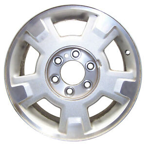 Oem Used 17x7 5 Alloy Wheel Bright Silver Metallic Textured With Mach Face 3781