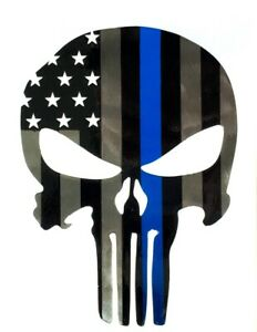 Powder Coated Steel Punisher Trailer Hitch Cover Insert Usa Blue Stripe