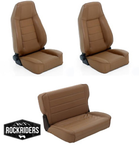 pre order 76 95 Jeep Wrangler Cj7 Reclining Front Rear Seat Combo Kit Spice
