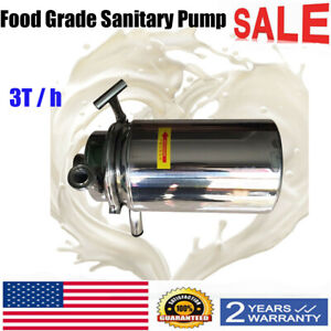 New Movable 110v 0 75kw 304 Food Grade Sanitary Pump Sanitary Beverage Pump 3t h