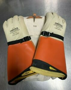Salisbury Electriflex Lineman Gloves Size 10 10 1 2 16in L W Shells And Bag