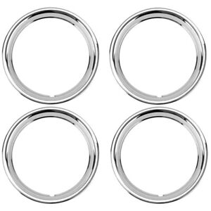 15 Ford Smooth Stainless Steel Wheel Trim Beauty Ring Set Of 4