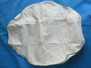 Vintage Nos Y F Cushion Mfg Cushion Seat Cover White Green For Farm Tractor