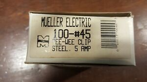Mueller Electric 45 Alligator Clip Steel 5 Amps Boxes Of 100 Pieces Bulk