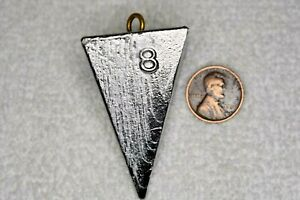 8 oz Pyramid Surf Fishing Lead Weights Sinkers - 50 pounds - Free Shipping $199.00
