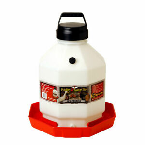 Miller Ppf5 Heavy Duty Poultry Waterer 5 Gal Capacity 16 In Dia X 19 In H
