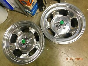 Just Polished 15x7 Indy Slot Mag Wheels Ford Dodge Mags Mopar R T Mustang Torino