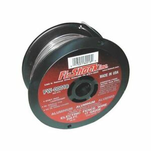 Fi shock Fw 00018d Electric Fence Wire 17 Ga Wire 250 Ft L Aluminum