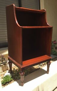 Lovely Vintage Mahogany Record Cabinet End Table Nightstand