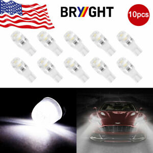 10x6000k White 1w 2323 T10 Wedge Led Car Lights Bulb Lamp 192 168 194 12v