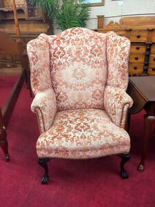 Vintage 1930 S Clawfoot Wing Back Chair Delivery Available