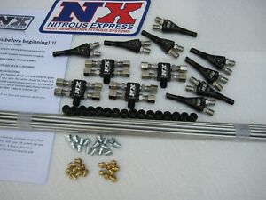 New Nx Direct Port 8 Shark Nozzle Nitrous Kit as Shown w 300hp Jets 200 600whp