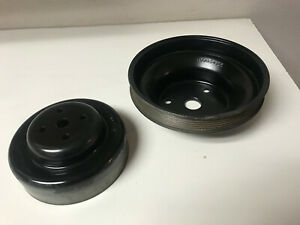 Chevy 5 7 5 0 4 3 350 Serpentine Water Pump And Crank Pulley