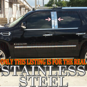 Chrome Stainless Steel Pillar Posts For 2007 2014 Cadillac Escalade 4pc Set