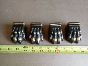 4pcs Vintage Antique Claw Table Leg Feet Claw Foot Hardware Cast Brass